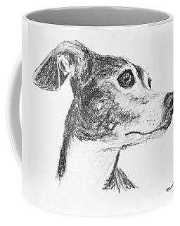 Italian Greyhound Sketch In Profile Coffee Mug
