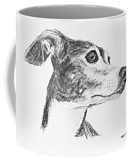 Italian Greyhound Sketch In Profile Coffee Mug