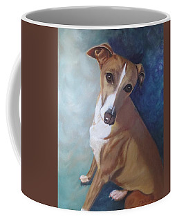 Coffee Mug featuring the painting Italian Greyhound by Sharon Schultz