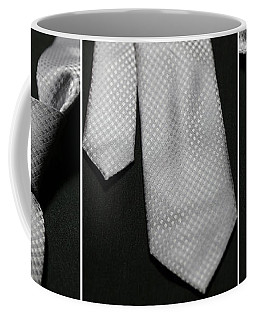 Coffee Mug featuring the photograph It's A Tie - Triptych by Trish Mistric