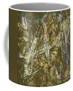 Coffee Mug featuring the painting It's Crazy Out There by Mini Arora