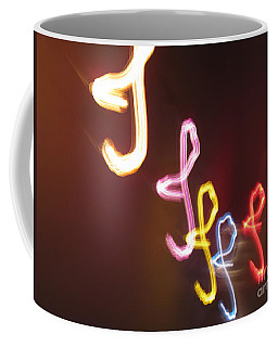 Coffee Mug featuring the photograph It's I... I... And More Of I. Dancing Lights Series by Ausra Huntington nee Paulauskaite