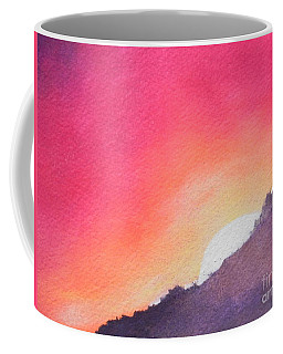 Coffee Mug featuring the painting It's Not About The Climb  Rather What Awaits You On The Other Side by Chrisann Ellis
