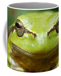 It's Not Easy Being Green _ Tree Frog Portrait Coffee Mug