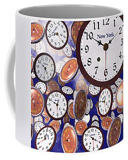 It's Raining Clocks - New York Coffee Mug