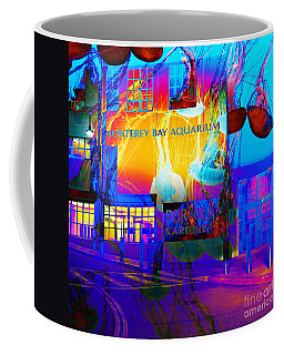 Its Raining Jelly Fish At The Monterey Bay Aquarium 5d25177 Square Coffee Mug