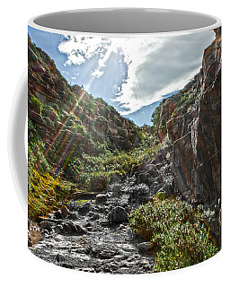 Coffee Mug featuring the photograph Its Raining Rainbows by Miroslava Jurcik