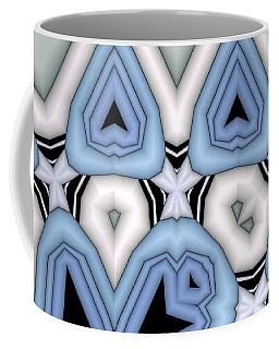 Ivory And Turqoise 1 Coffee Mug by Ron Bissett