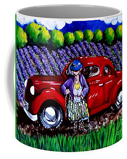 J. C. 1931 Fishing In Red Coffee Mug