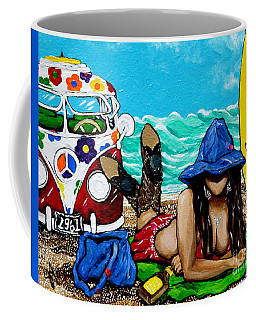 J. C. Beaching It In 1961 Coffee Mug