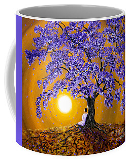 Jacaranda Sunset Meditation Coffee Mug