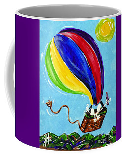 Coffee Mug featuring the painting Jack And Charlie Fly Away by Jackie Carpenter