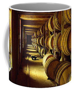 Jack Daniel Whiskey Maturing In Barrels In Old Warehouse At The Lynchburg Distillery Tennessee Usa Coffee Mug
