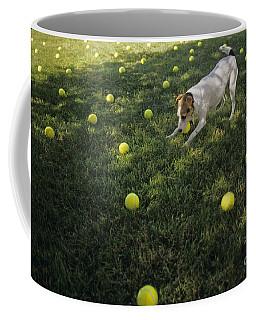 Jack Russell Terrier Tennis Balls Coffee Mug