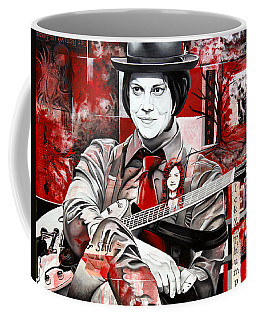 Coffee Mug featuring the painting Jack White by Joshua Morton