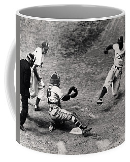 Jackie Robinson In Action Coffee Mug