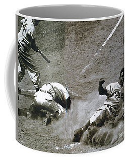 Jackie Robinson Sliding Home Coffee Mug
