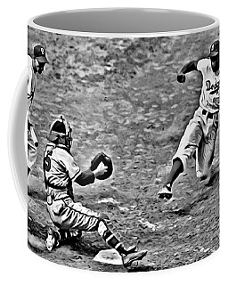 Jackie Robinson Stealing Home Coffee Mug