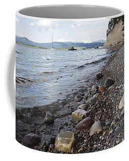 Coffee Mug featuring the photograph Jackson Lake With Boats by Belinda Greb