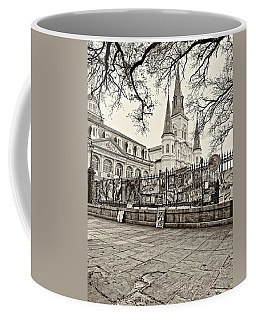 Jackson Square Winter Sepia Coffee Mug