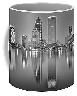 Jacksonville Florida Black And White Panoramic View Coffee Mug