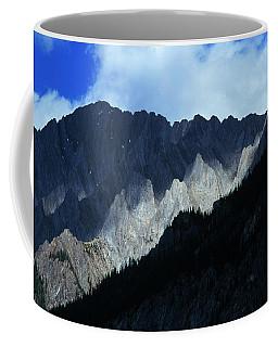 Jagged Mountains Of Banff National Coffee Mug