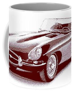 Jaguar E-type - Cross Hatching Coffee Mug