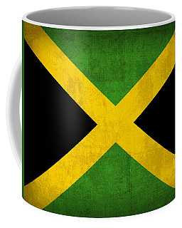 Jamaica Flag Vintage Distressed Finish Coffee Mug