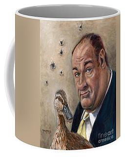 James Gandolfini Coffee Mug by Mark Tavares