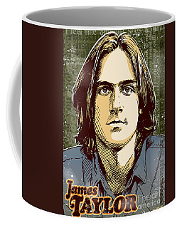 James Taylor Pop Art Coffee Mug