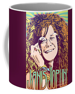 Janis Joplin Pop Art Coffee Mug