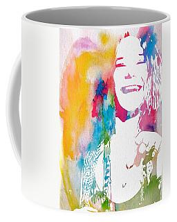 Janis Joplin Watercolor Coffee Mug