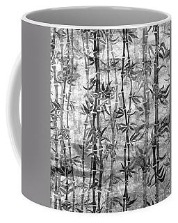 Japanese Bamboo Grunge Black And White Coffee Mug
