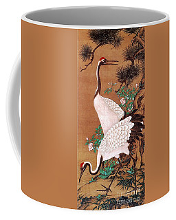 Japanese Cranes Coffee Mug by Roberto Prusso