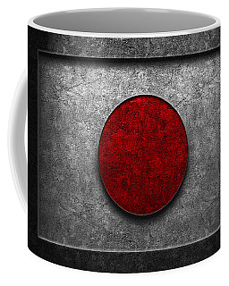 Japanese Flag Stone Texture Coffee Mug