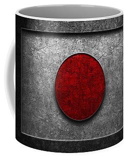 Coffee Mug featuring the digital art Japanese Flag Stone Texture by Brian Carson