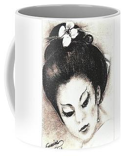 Japanese Girl. Coffee Mug by Francine Heykoop