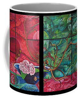 Coffee Mug featuring the painting Japanesse Flower Arrangment by Joshua Morton