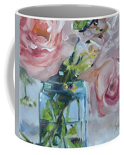 Jar Of Pink Coffee Mug by Donna Tuten