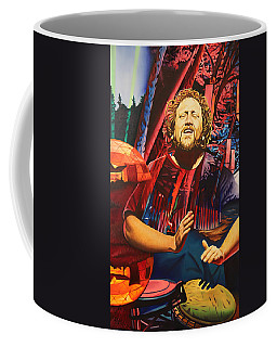 Coffee Mug featuring the painting Jason Hann At Horning's Hideout by Joshua Morton