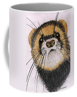 Coffee Mug featuring the drawing Jasper by Barbara Moignard
