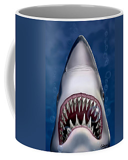 Jaws Great White Shark Art Coffee Mug