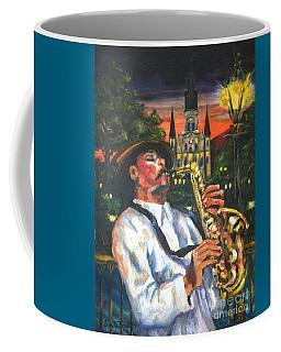 Jazz By Street Lamp Coffee Mug
