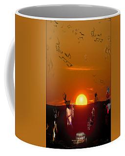Coffee Mug featuring the digital art Jazz Fest by Cathy Anderson