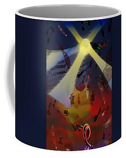 Coffee Mug featuring the digital art Jazz Fest II by Cathy Anderson