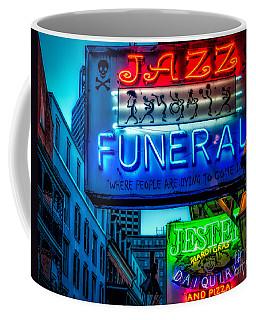 Jazz Funeral And Jester On Bourbon St. Coffee Mug