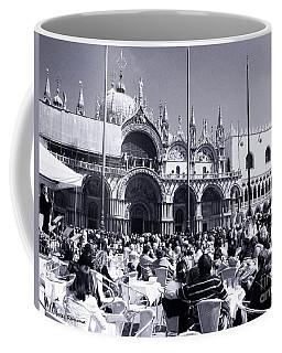 Jazz In Piazza San Marco Black And White  Coffee Mug