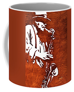Jazz Saxofon Player Coffee Painting Coffee Mug