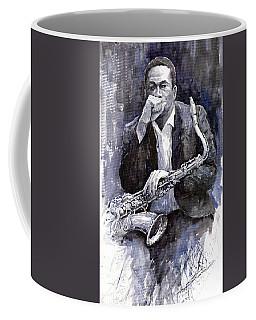 Jazz Saxophonist John Coltrane Black Coffee Mug