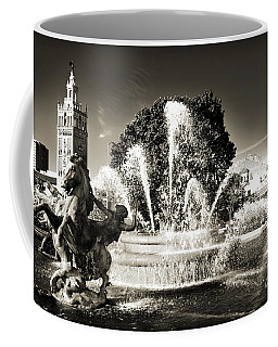 Jc Nichols Memorial Fountain Bw 1 Coffee Mug